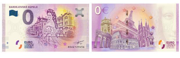Euro bankovka- bardejovske kupele a SISI